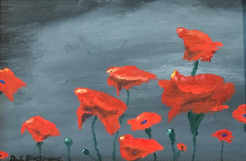 Poppies and the Coming Storm